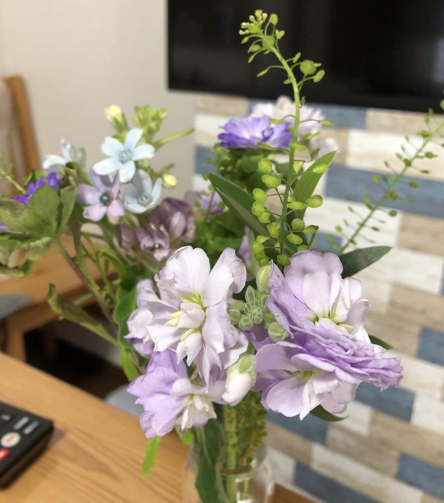 bloomeeで実際に届いたお花