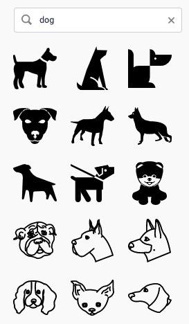 「犬」アイコンの一部